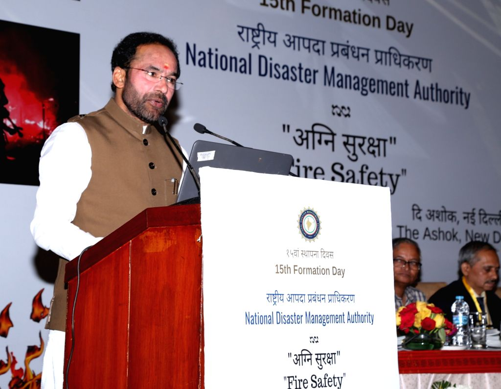 Union MoS Home Affairs G. Kishan Reddy addresses at the inauguration of the 15th Formation Day celebrations of National Disaster Management Authority (NDMA), in New Delhi on Sep 27, 2019.