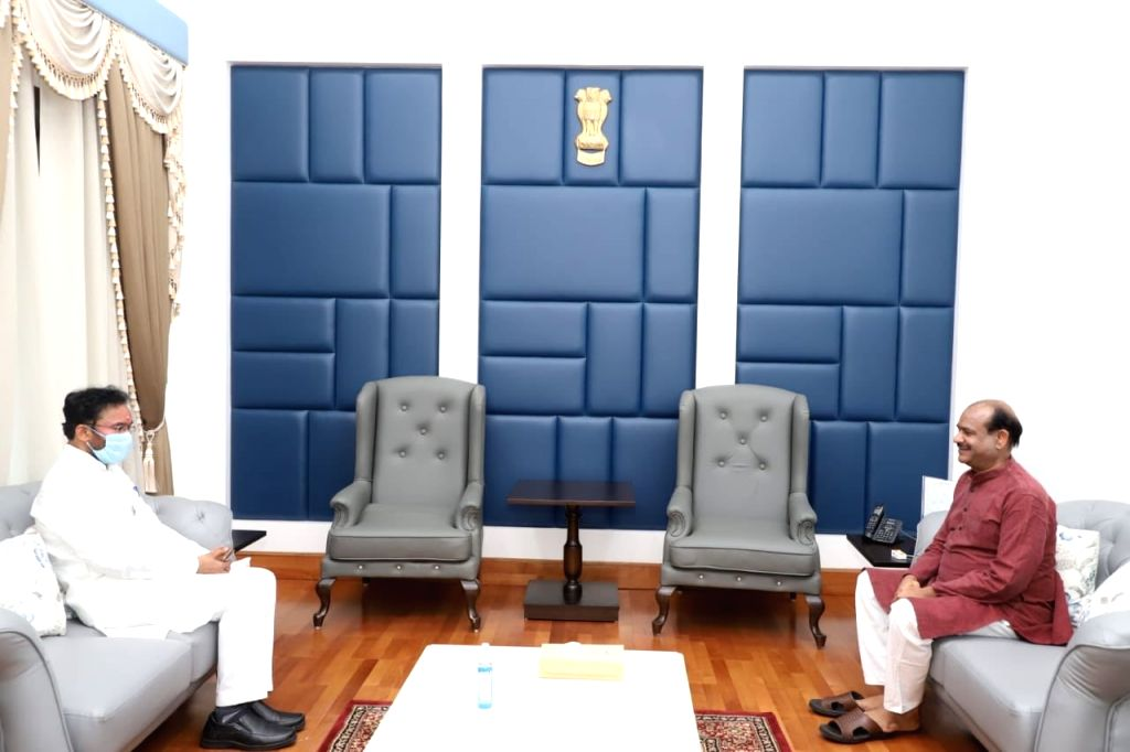 Union MoS Home Affairs G. Kishan Reddy meets Lok Sabha Speaker Om Birla, in New Delhi on July 9, 2020. - O