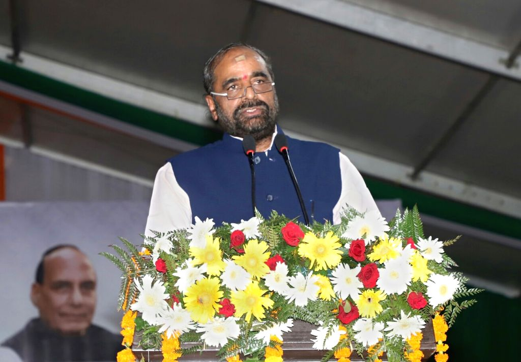 Union MoS Home Affairs Hansraj Gangaram Ahir addresses during the launch of Student Police Cadet (SPC) programme for nationwide implementation, in Gurugram on July 21, 2018.