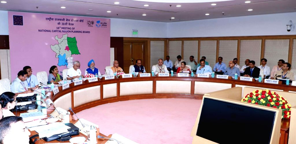 Union MoS Housing and Urban Affairs, Civil Aviation (Independent Charge) and Commerce and Industry Hardeep Singh Puri presides over the 38th Board Meeting of the National Capital Region ... - Manohar Lal Khattar and Hardeep Singh Puri