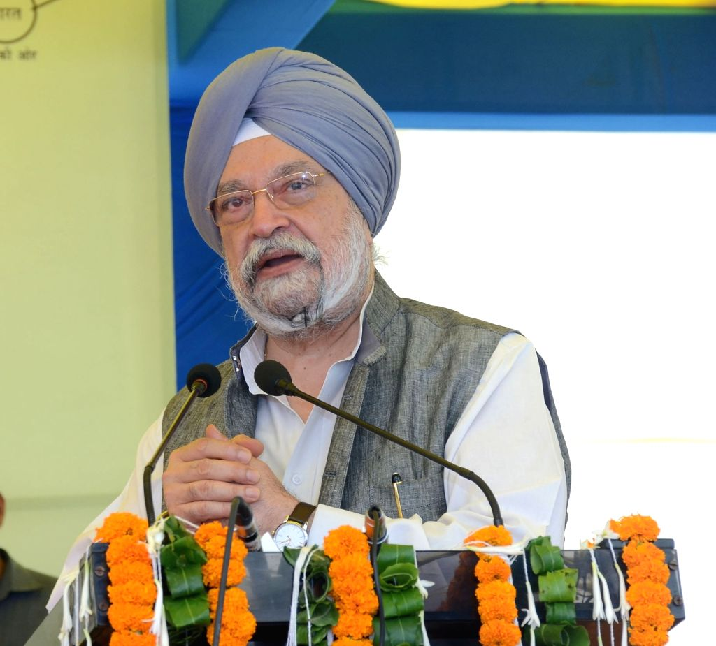 Union MoS Housing and Urban Affairs, Civil Aviation (Independent Charge) and Commerce and Industry Hardeep Singh Puri addresses at the foundation stone laying ceremony of various ... - Hardeep Singh Puri