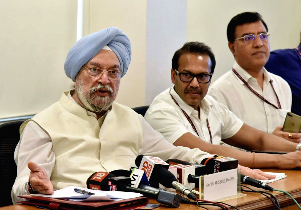 Union MoS Housing and Urban Affairs Hardeep Singh Puri addresses after launching several new initiatives under Smart City Mission and Atal Mission for Rejuvenation and Urban Transformation ...