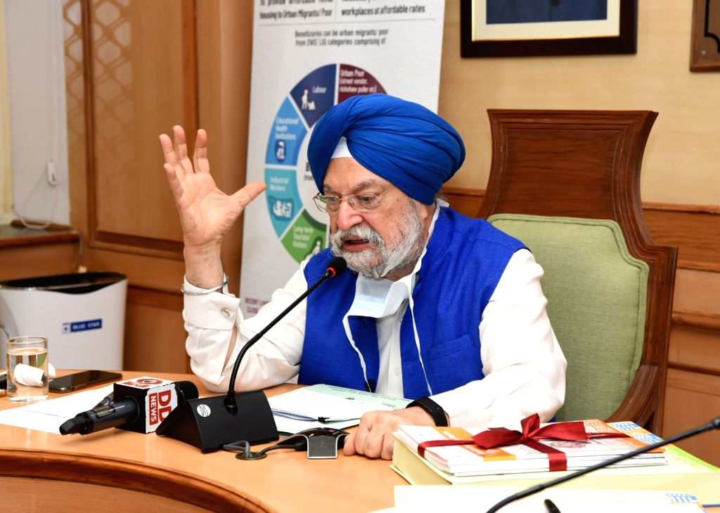 Union MoS Housing & Urban Affairs, Civil Aviation (Independent Charge) and Commerce & Industry Hardeep Singh Puri addresses at the release of the ???Affordable Rental Housing ... - Hardeep Singh Puri