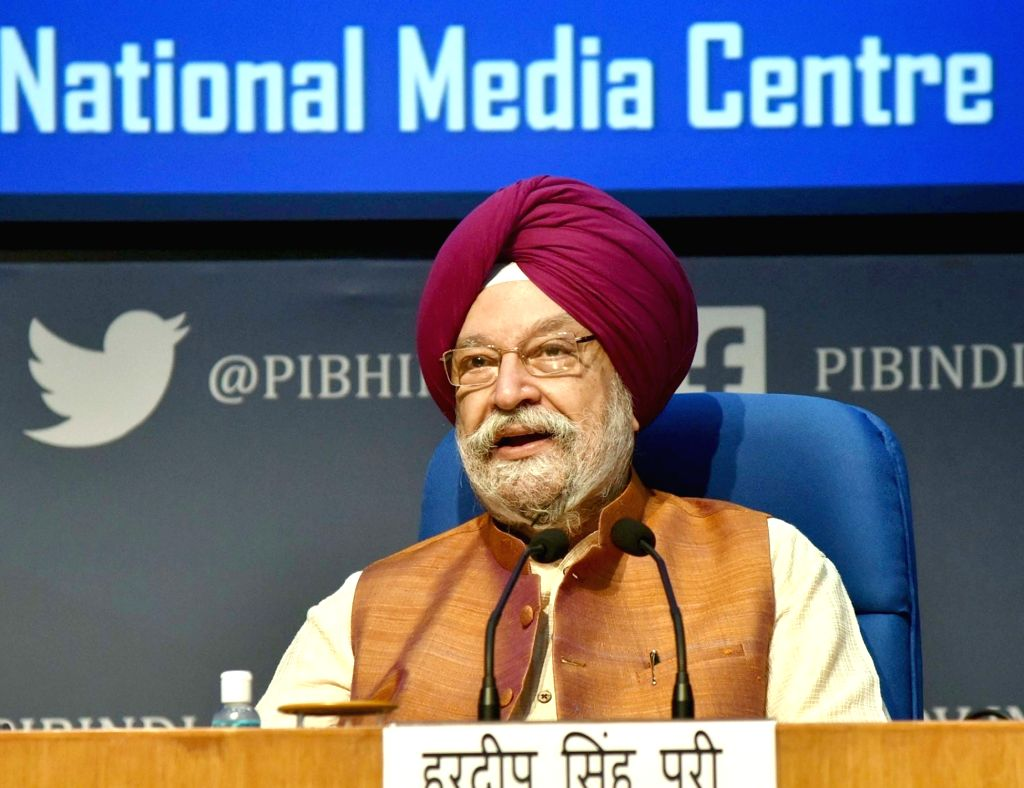 Union MoS Housing & Urban Affairs, Civil Aviation (Independent Charge) and Commerce & Industry Hardeep Singh Puri addresses a press conference on civil aviation issues, in New ... - Hardeep Singh Puri