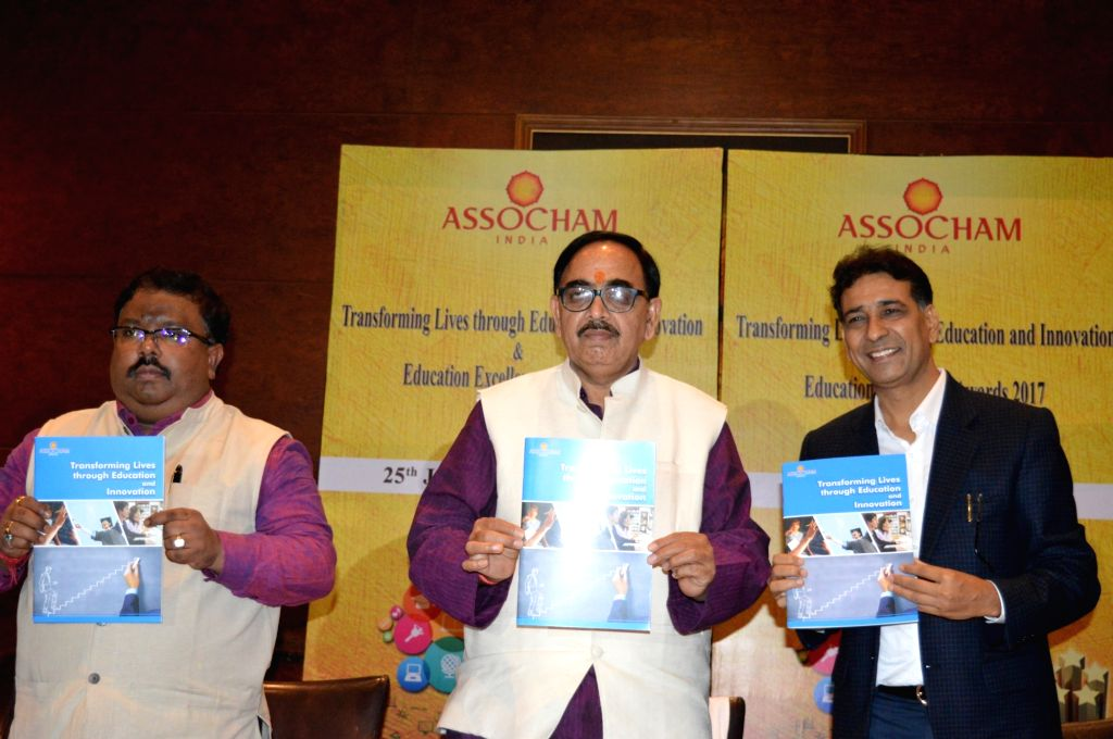 Union MoS HRD Mahendra Nath Pandey launches ASSOCHAM's knowledge report in Kolkata on July 25, 2017. - Mahendra Nath Pandey