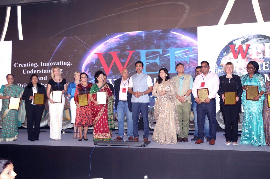 Union MoS Information and Broadcasting Rajyavardhan Singh Rathore at the Women Economic Forum in New Delhi, on May 8, 2017. - Rajyavardhan Singh Rathore