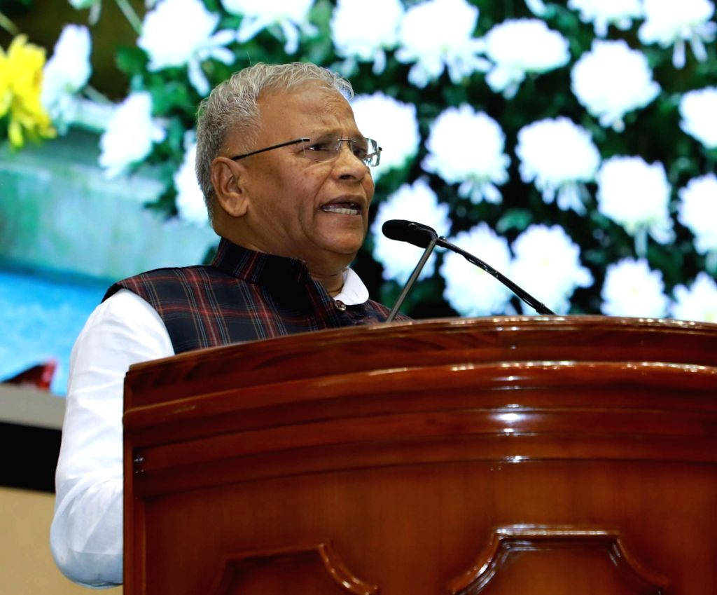 "Union MoS Jal Shakti and Social Justice and Empowerment Rattan Lal Kataria addresses at the ""Swachhata Mahotsava 2019"" organised by the Ministry of Jal Shakti, in New Delhi on ..."