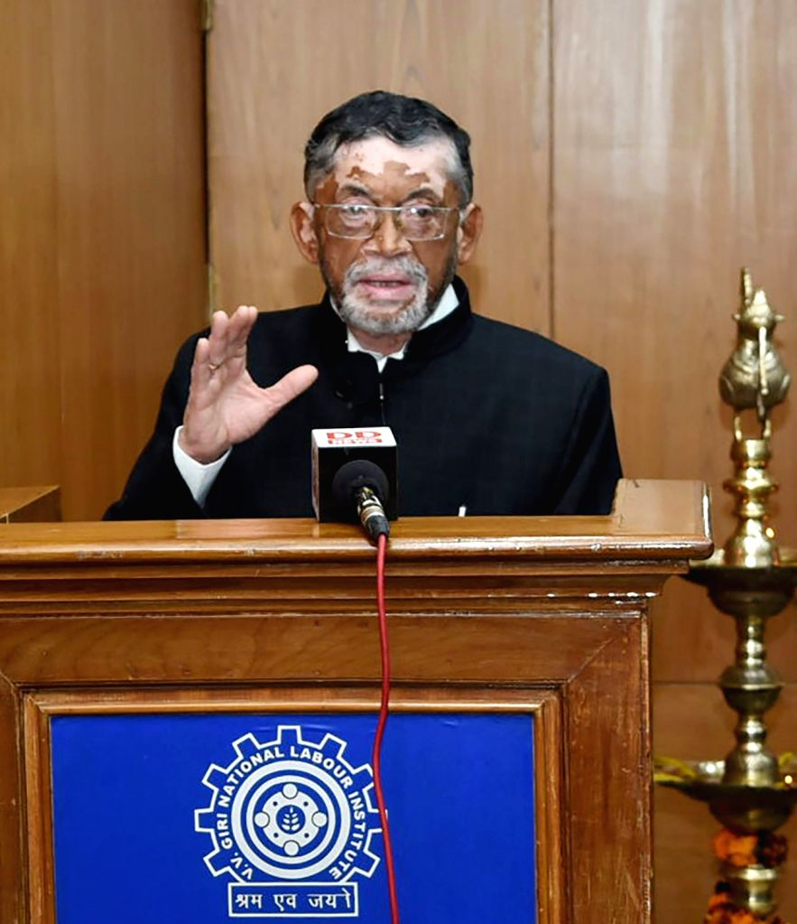 Union MoS Labour and Employment Santosh Kumar Gangwar addresses at the inauguration of the centenary celebrations of International Labour Organisation (ILO) at V.V. Giri National Labour ... - Santosh Kumar Gangwar