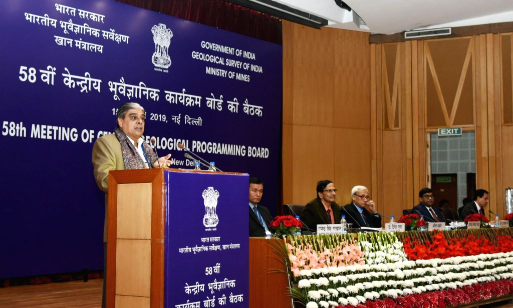 Union MoS Mines and Coal Haribhai Parthibhai Chaudhary addresses at the 58th meeting of the Central Geological Programming Board (CGPB) in New Delhi, on Feb 15, 2019. - Haribhai Parthibhai Chaudhary