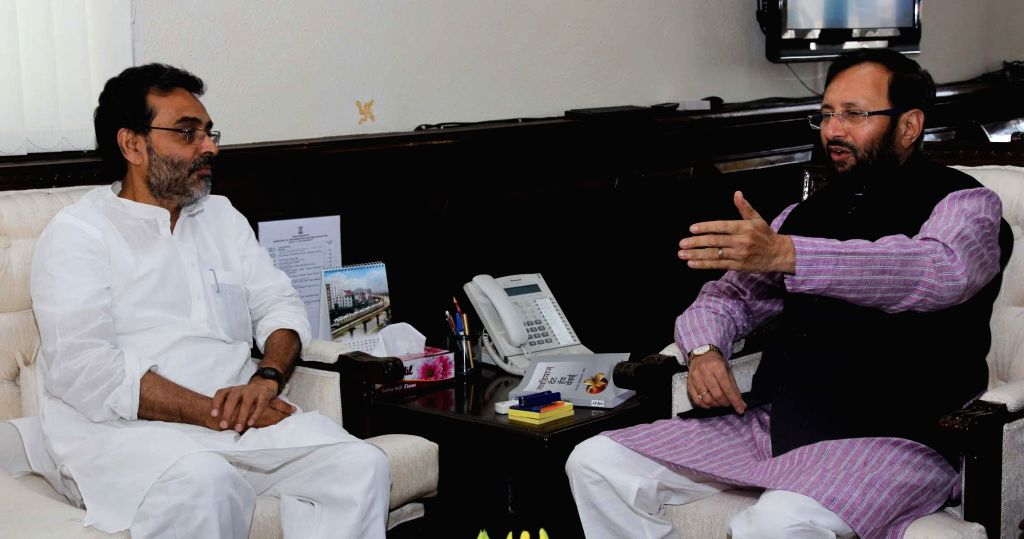 Union MoS Panchayati Raj, Drinking Water and Sanitation Upendra Kushwaha calls on MoS for Information and Broadcasting (Independent Charge), Environment, Forest and Climate Change (Independent ...