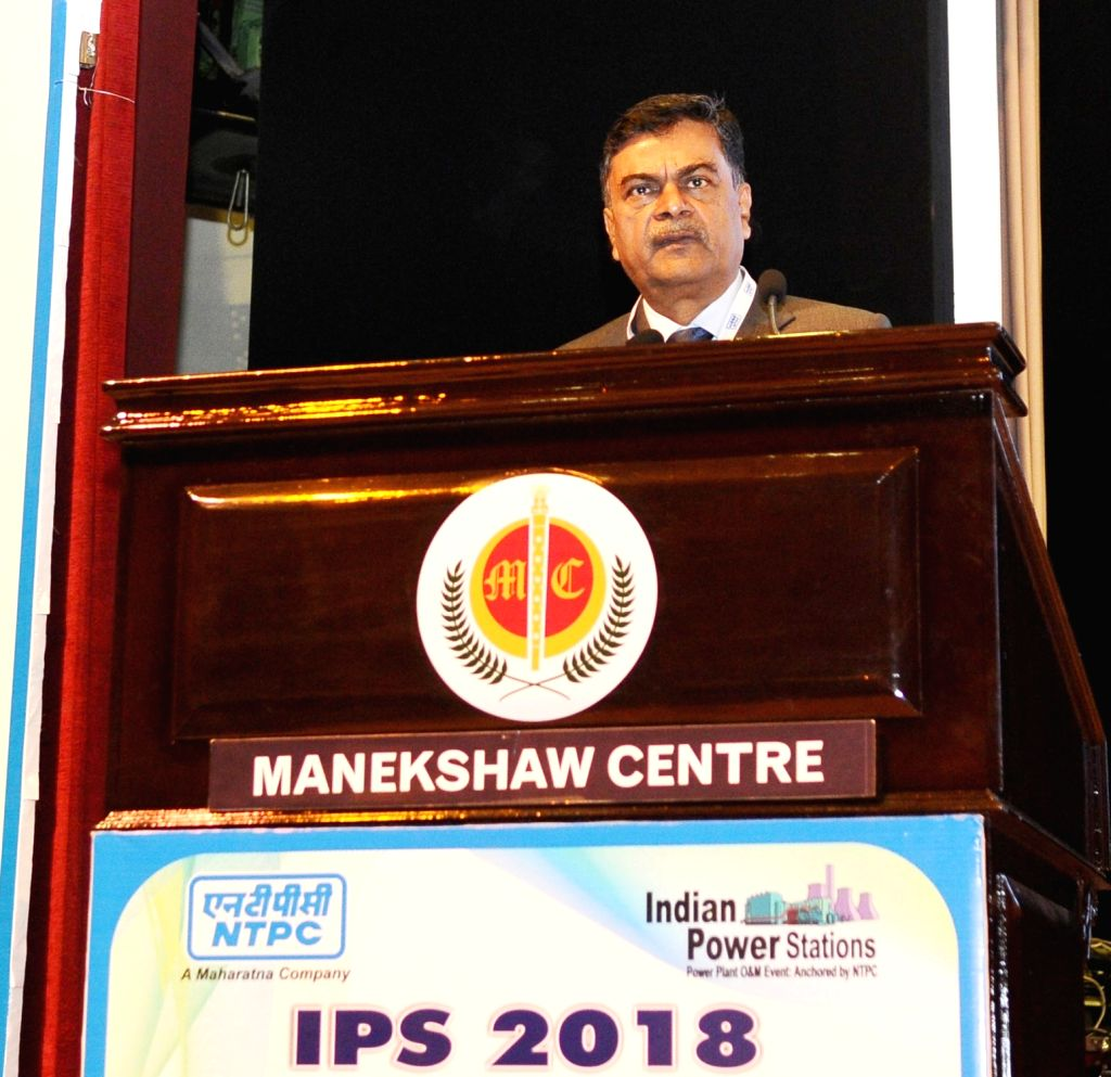 Union MoS Power and New and Renewable Energy Raj Kumar Singh addresses at the inauguration of Indian Power Stations- 2018 International O&M Conference in New Delhi on Feb 13, 2018.