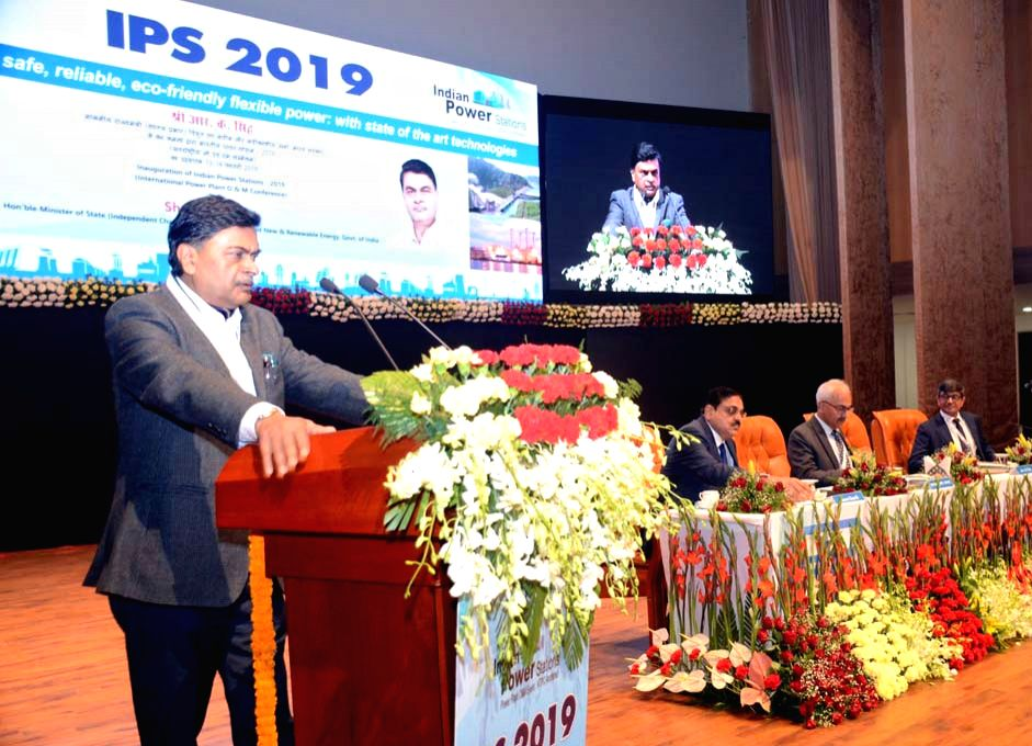 """Union MoS Power R.K.Singh addresses at the inauguration of the """"Indian Power Stations (IPS) 2019 - International O&M Conference"""" of NTPC Limited, in Raipur, on Feb 13, 2019."""