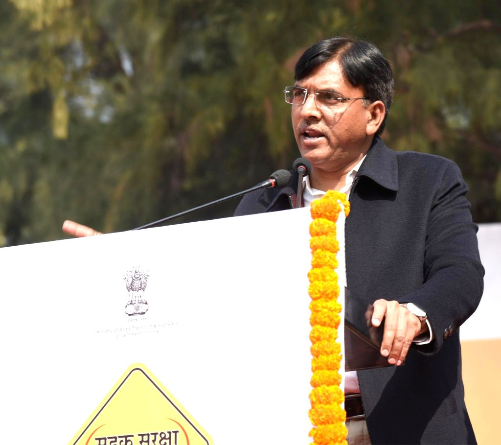 Union MoS  Road Transport and Highways Mansukh L. Mandaviya addresses at the inauguration of the 30th National Road Safety Week-2019, to commemorate the 150th birth anniversary of Mahatma ...