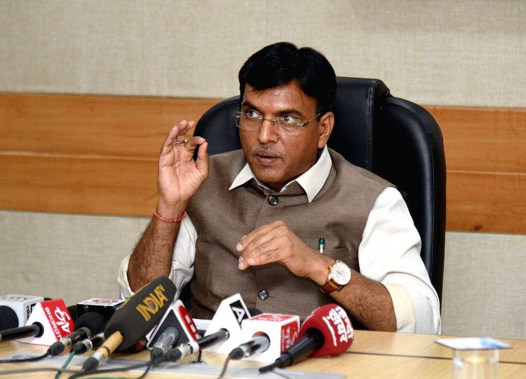 Union MoS Shipping (Independent Charge) and Chemicals and Fertilizers Mansukh L. Mandaviya briefs the media about the recent signing of SOP between India and Bangladesh on the use of ...