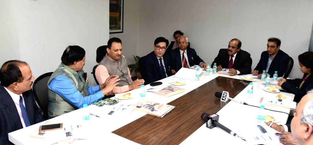 Union MoS Skill Development and Entrepreneurship Anantkumar Hegde at the signing ceremony of an MoU between Vishwakarma Skill University and National Institute of Technical Teachers ...