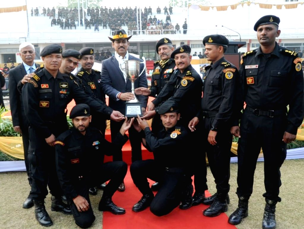Union MoS Youth Affairs and Sports and Information and Broadcasting Rajyavardhan Singh Rathore at the Closing Ceremony and Prize Distribution programme of the 19th All India Police Duty ... - Rajyavardhan Singh Rathore