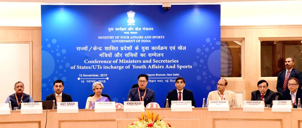 Union MoS Youth Affairs and Sports (Independent Charge) and Minority Affairs, Kiren Rijiju presides over the Conference of Ministers and Secretaries of the States/UTs for Youth Affairs and ...