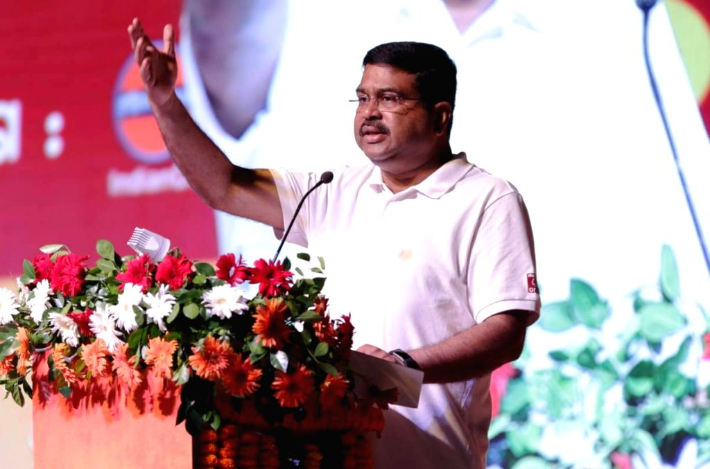 Union Petroleum and Natural Gas and Skill Development and Entrepreneurship Minister Dharmendra Pradhan addresses during a programme organised on the birth anniversary of the country's ... - Dharmendra Pradhan and Sardar Vallabhbhai Patel