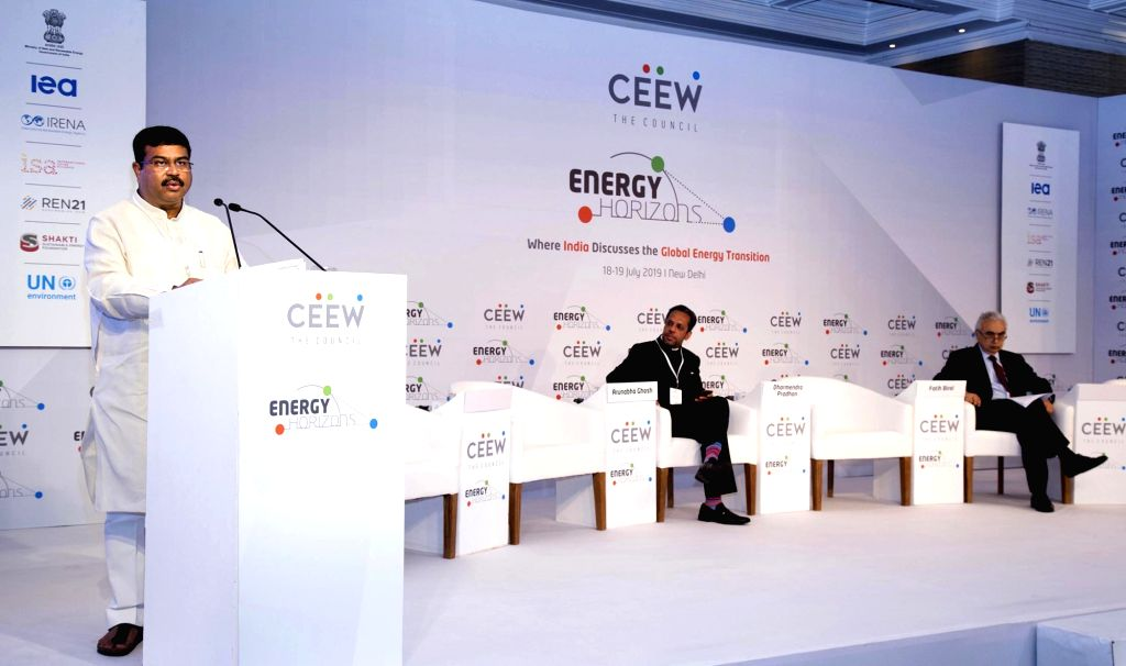 Union Petroleum and Natural Gas Minister Dharmendra Pradhan delivers keynote address at the Energy Horizon 2019, in New Delhi on July 19, 2019. - Dharmendra Pradhan