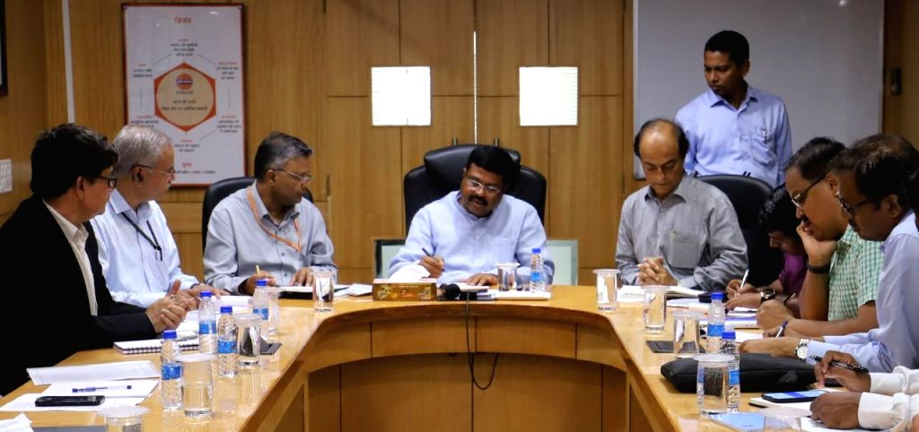 Union Petroleum Minister Dharmendra Pradhan chairs a meeting with senior officials of Odisha Mining Corporation to review availability of petroleum products, supply chain resumption and ... - Dharmendra Pradhan