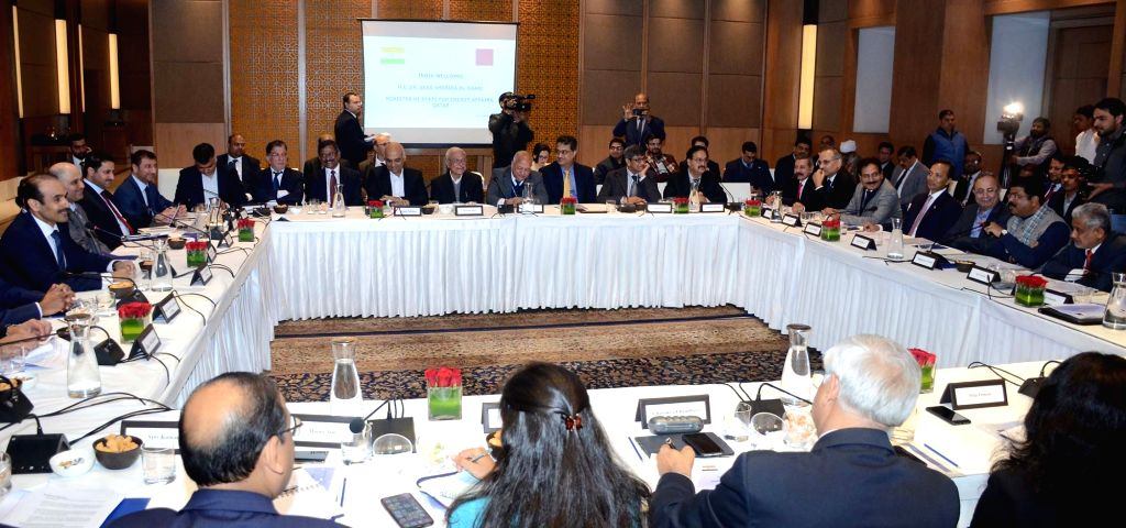 Union Petroleum & Natural Gas and Steel Minister Dharmendra Pradhan during a bilateral meeting with the Minister of State for Energy Affairs of Qatar, Saad Sherida Al-Kaabi, in New ... - Dharmendra Pradhan