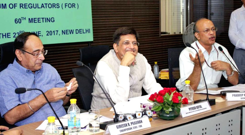 Union Power Minister Piyush Goyal at the Forum of Regulators, in New Delhi on June 23, 2017. - Piyush Goyal