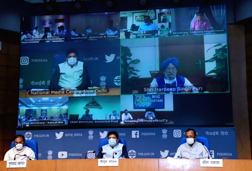 Union Railways and Commerce & Industry Minister Piyush Goyal addresses at the release of the results of the second edition of Ranking of States on Support to Startup Ecosystems, in New ... - Piyush Goyal
