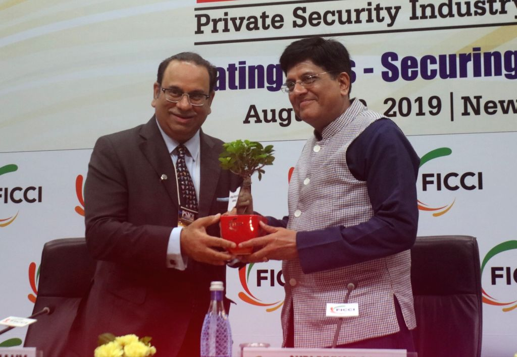 Union Railways and Commerce Minister Piyush Goyal during Private Security Industry Conclave (PSIC) 2019 in New Delhi, on Aug 30, 2019. - Piyush Goyal