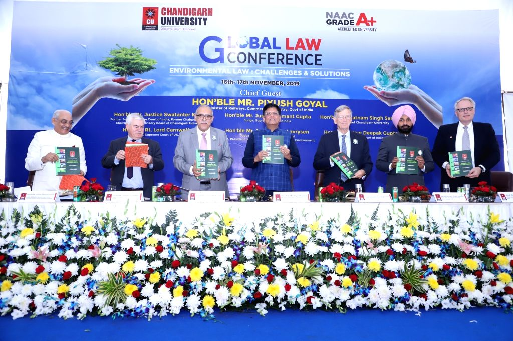 Union Railways, Commerce and Industry Minister Piyush Goyal and other dignitaries release Conference Volume-I containing research papers on Environment at the inaugural session of the two-day ... - Piyush Goyal