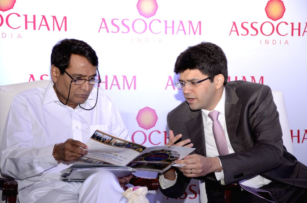 Union Railways Minister Suresh Prabhakar Prabhu during an ASSOCHAM India-Africa Business Champion Awards 2015 in New Delhi, on Oct 19, 2015. - Suresh Prabhakar Prabhu