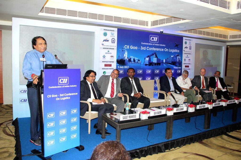 Union Railways Minister Suresh Prabhu addresses during a CII programme in Panaji, on July 5, 2017. - Suresh Prabhu
