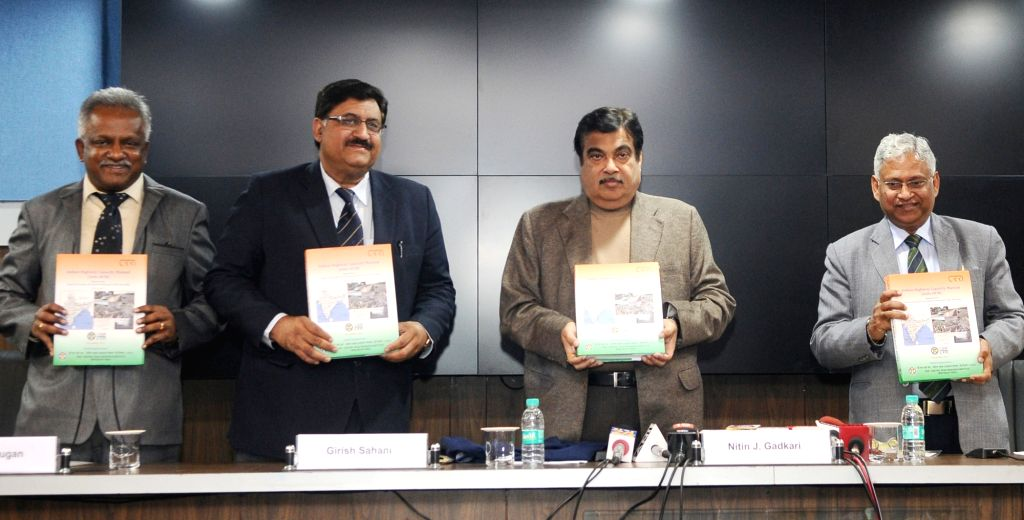 Union Road Transport and Highways Minister Nitin Gadkari along with CSIR DG Girish Sahni and other dignitaries releases the Indian Highway Capacity Manual (Indo-HCM) Research Project ... - Nitin Gadkari