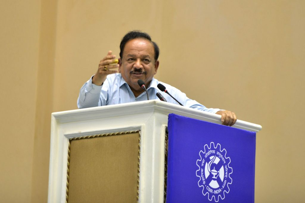 Union Science and Technology, Health and Family Welfare and Earth Sciences Minister Harsh Vardhan addresses during CSIR Foundation Day programme, in New Delhi on Sep 26, 2019. - Harsh Vardhan