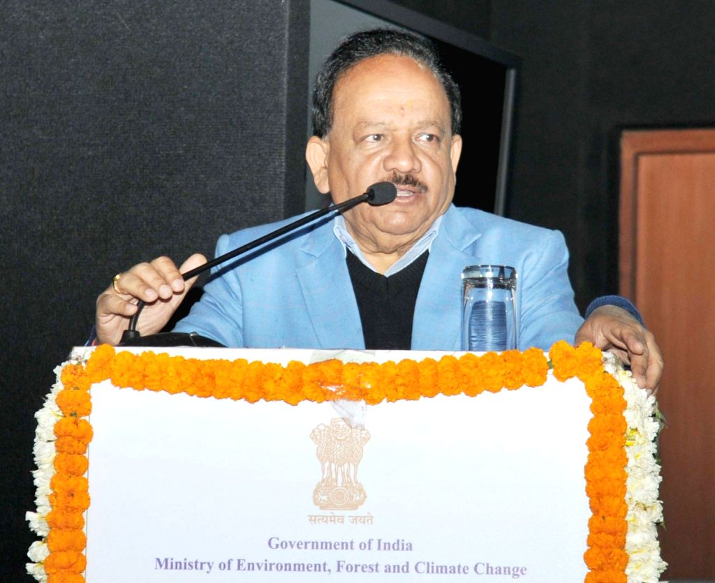 "Union Science and Technology Minister Harsh Vardhan addresses at the inauguration of a workshop on pollution abatement technologies ""Clean Air Campaign"", in New Delhi on Feb 13, ... - Harsh Vardhan"