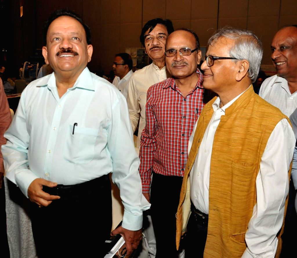 "Union Science and Technology Minister Harsh Vardhan, NB Institute for Rural Technology (NBIRT) President S. P. Gon Chaudhuri and other dignitaries during a seminar on ""Connecting Solar ... - Harsh Vardhan"