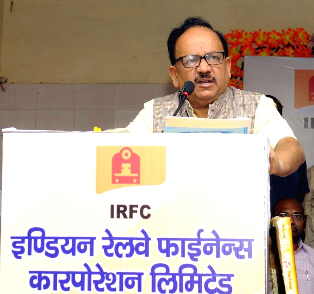 Union Science and Technology Minister Harsh Vardhan addresses during Indian Railways Finance Corporation Limited's CSR programme organised to distribute aids and assistive devices to ... - Harsh Vardhan