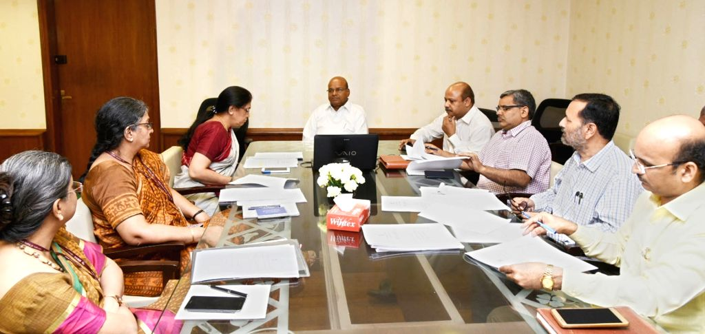 Union Social Justice and Empowerment (SJE) Minister Thaawar Chand Gehlot chairs a meeting regarding funding pattern of Ambedkar International Centre Ambedkar National Memorial and ... - Thaawar Chand Gehlot