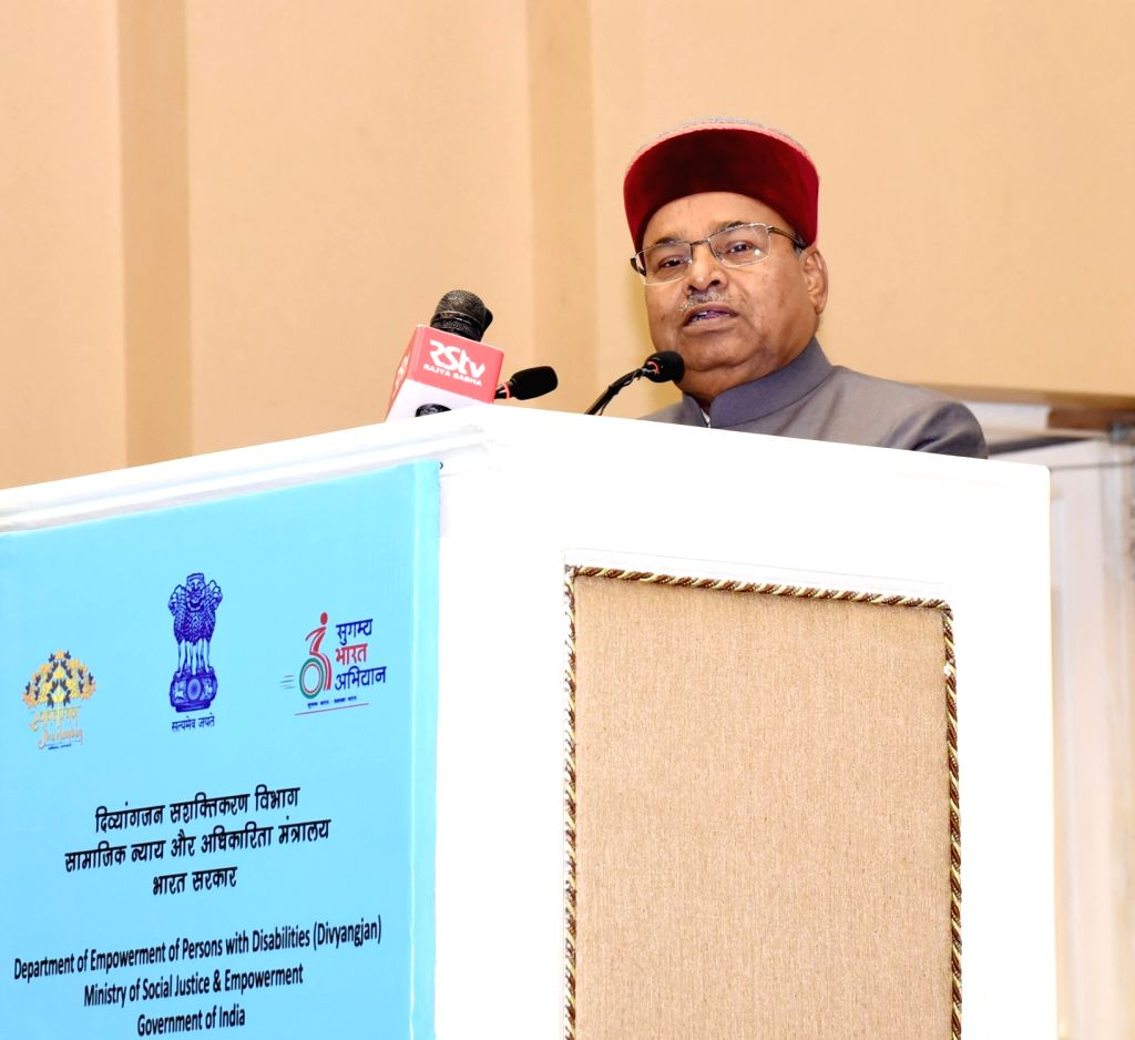 Union Social Justice and Empowerment Thaawar Chand Gehlot addresses at the presentation of National Awards for the Empowerment of Persons with Disabilities (Divyangjan), on the occasion of ...