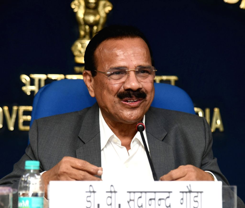 Union Statistics and Programme Implementation and Chemicals and Fertilizers Minister D.V. Sadananda Gowda  (Photo: IANS/PIB) - D.