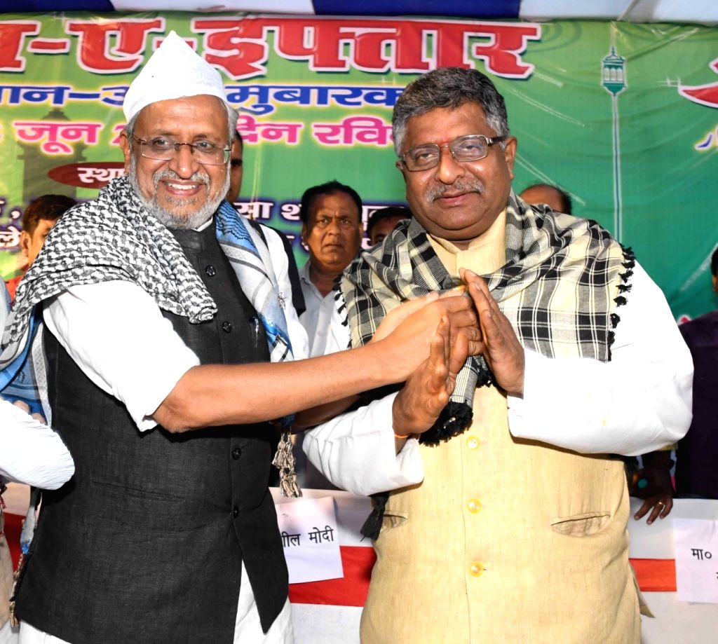 Union Telecom and IT Minister Ravi Shankar Prasad and Bihar Deputy Chief Minister Sushil Kumar Modi during an Iftar party in Patna, on June 2, 2019. - Ravi Shankar Prasad and Sushil Kumar Modi