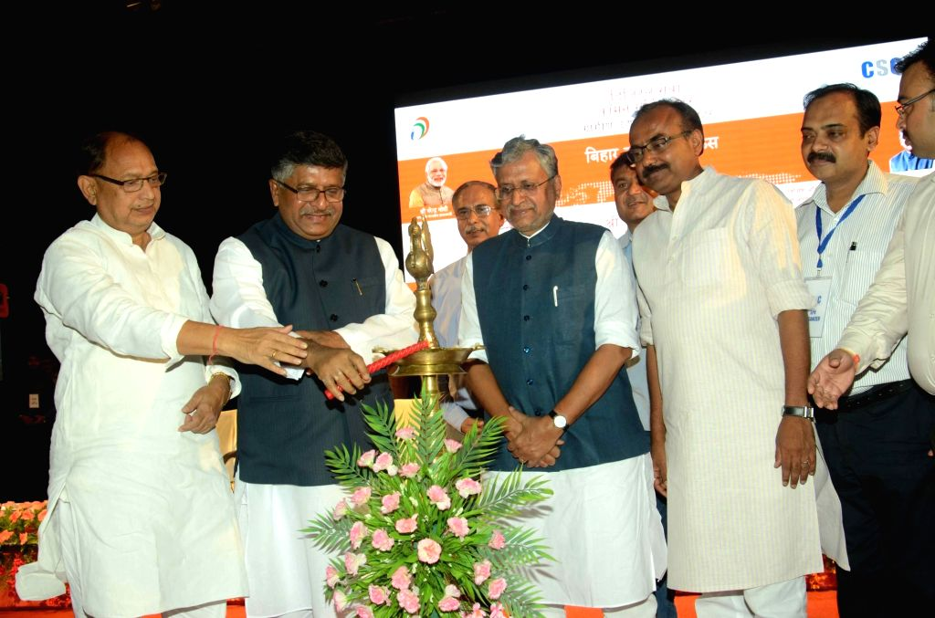 Union Telecom Minister Ravi Shankar Prasad during inauguration of common service center in Patna, on June 23, 2016. - Ravi Shankar Prasad