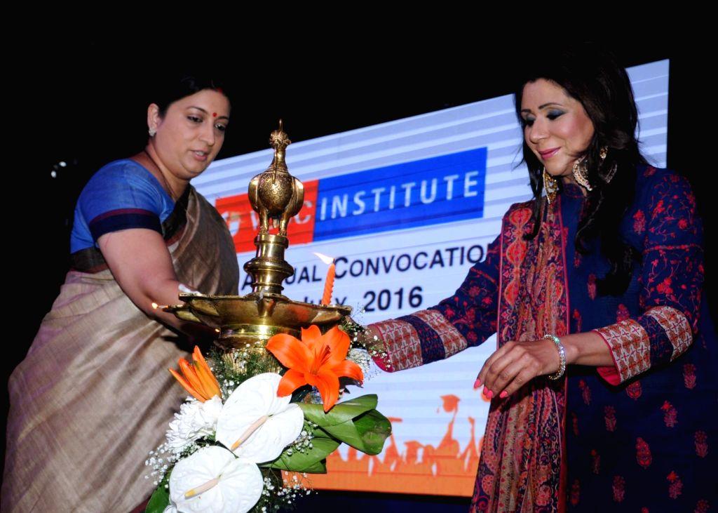 Union Textile Minister Smriti Irani during a VLCC programme in New Delhi, on July 11, 2016. - Smriti Irani