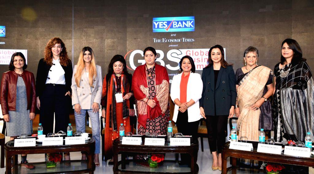 "Union Textiles Minister Smriti Irani during a panel discussion on Women ership - ""Create, Nurture and Transform: The 'Better' Half"", at the Economic Times Global Business ... - Smriti Irani"