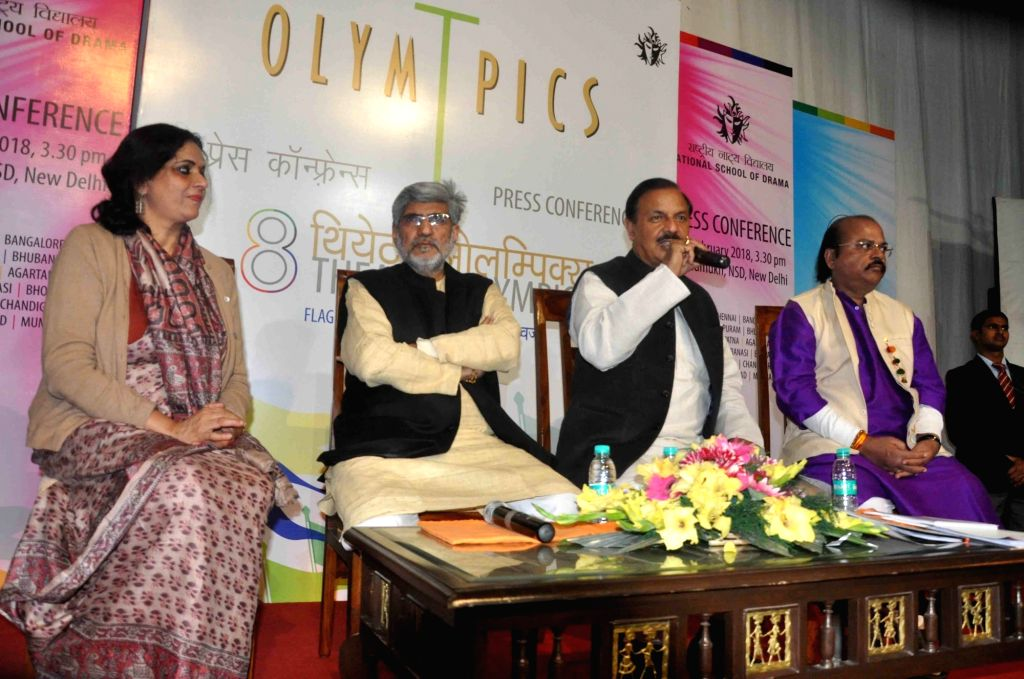 Union Tourism and Culture Minister Mahesh Sharma during a press conference regarding 8th Theatre Olympics organised by the National School of Drama (NSD) in New Delhi on Feb 13, 2018. - Mahesh Sharma