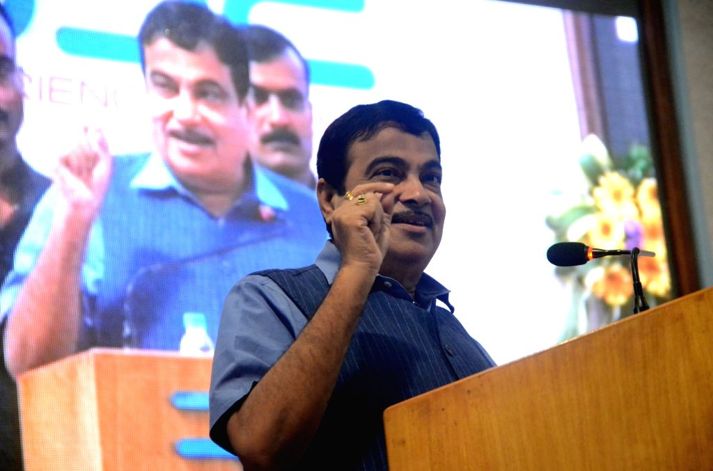 Union Transport Minister Nitin Gadkari addresses at the inauguration of the renovated BSE International Convention Hall and listing of equity shares of Cochin Shipyard Ltd., in Mumbai on Aug ... - Nitin Gadkari