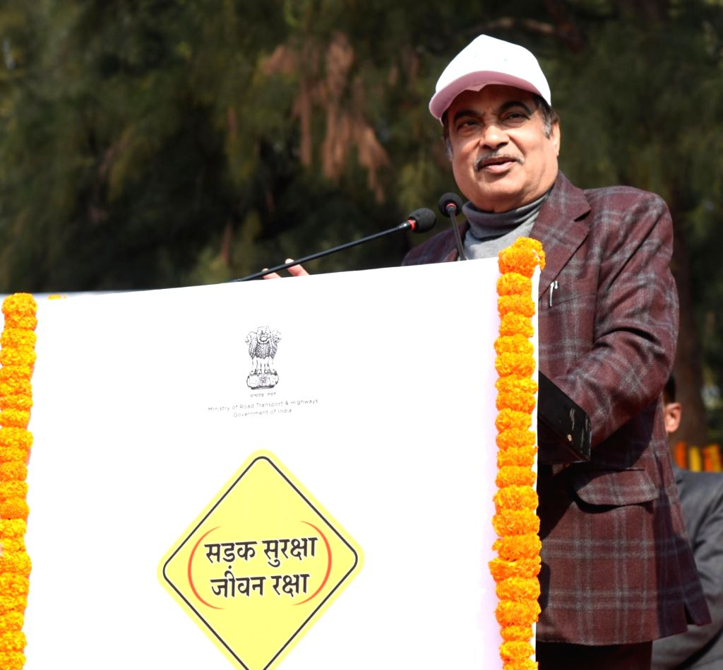 Union Transport Minister Nitin Gadkari addresses at the inauguration of the 30th National Road Safety Week- 2019, to commemorate the 150th birth anniversary of Mahatma Gandhi, at Rajghat, ... - Nitin Gadkari