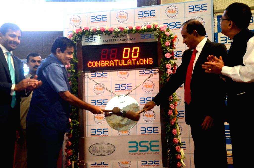 Union Transport Minister Nitin Gadkari at the inauguration of the renovated BSE International Convention Hall and listing of equity shares of Cochin Shipyard Ltd., in Mumbai on Aug 11, 2017. - Nitin Gadkari
