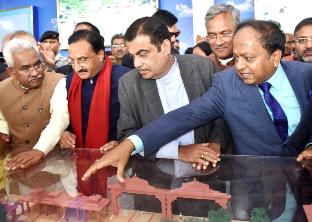 Union Transport Minister Nitin Gadkari inspects a Namami Gange project in Haridwar on Feb 21, 2019. - Nitin Gadkari