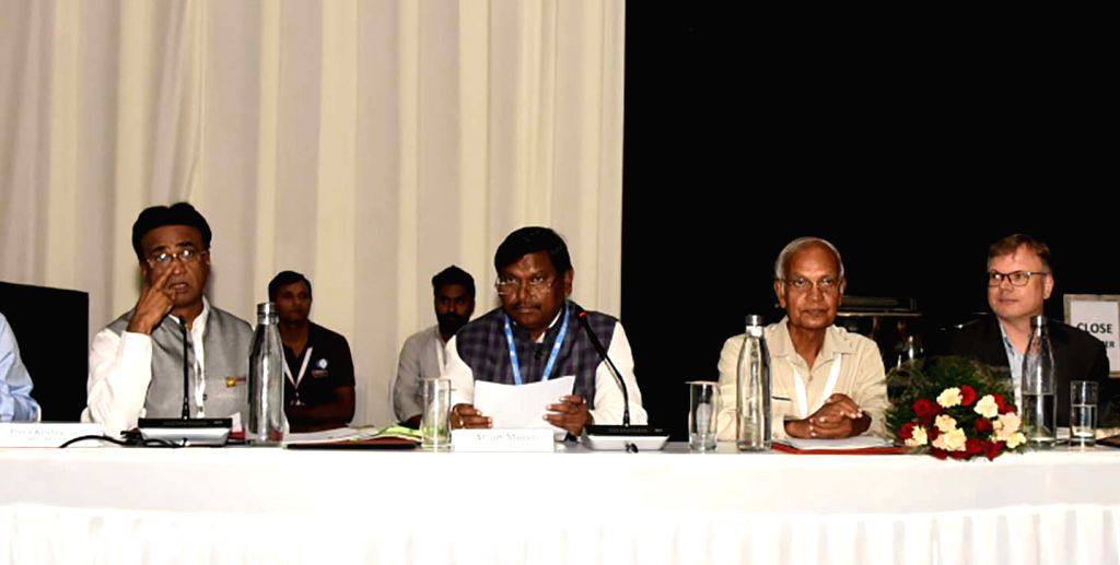 Union Tribal Affairs Minister Arjun Munda at the ???4P1000 initiative: The Indian Tribal Perspective through Bamboonomics??? programme held on the concluding day of the 14th Conference of ... - Arjun Munda