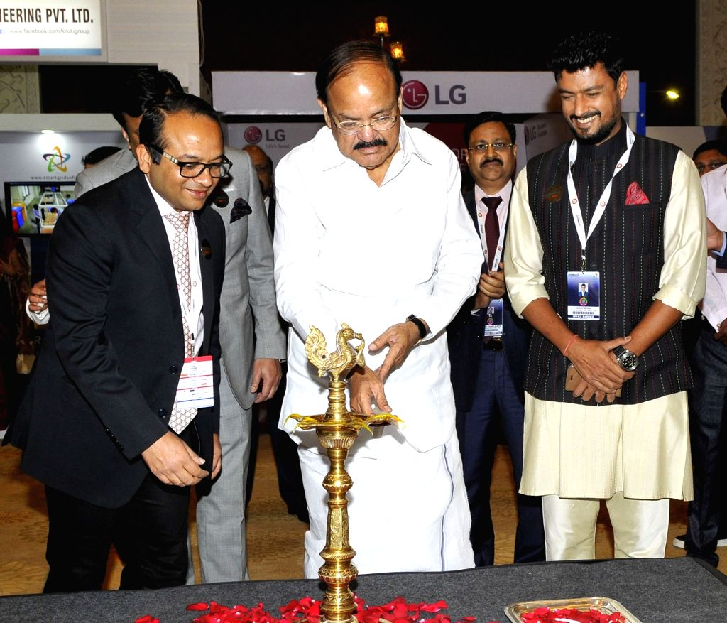 Union Urban Development Minister M. Venkaiah Naidu inaugurates the CREDAI Conclave, in New Delhi on March 6, 2017. - M. Venkaiah Naidu
